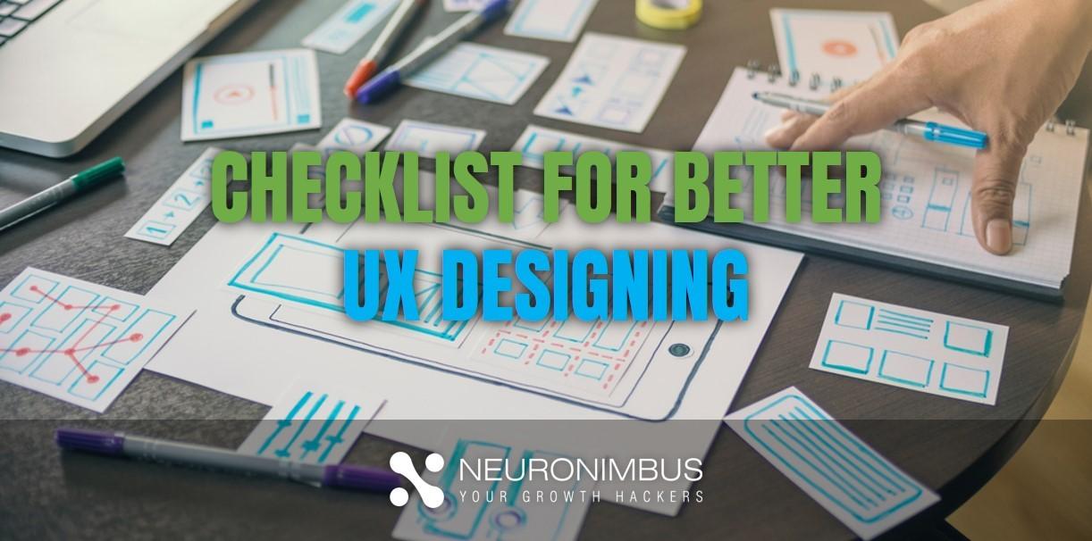 Checklist for UX designing for App